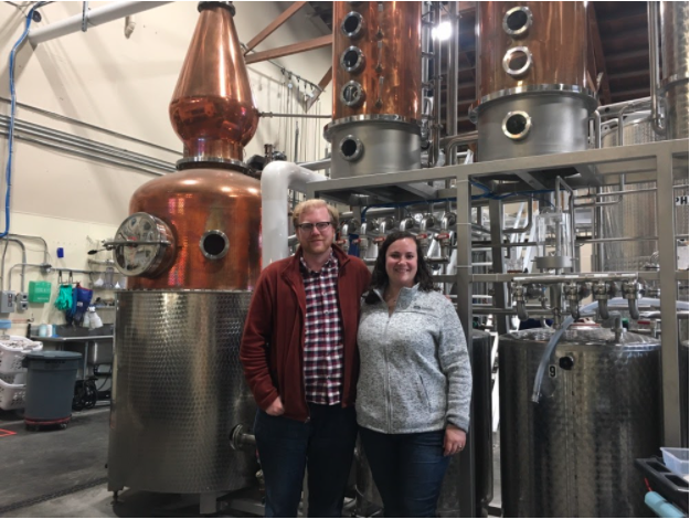 The Lost Lantern team at Spirit Works Distillery in Sebastopol, California