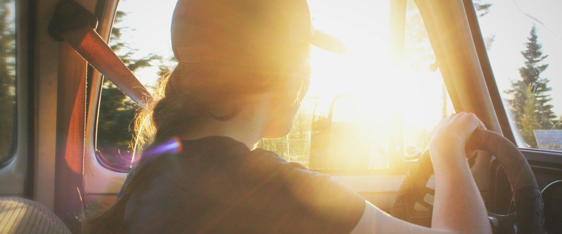 Sunny road trip