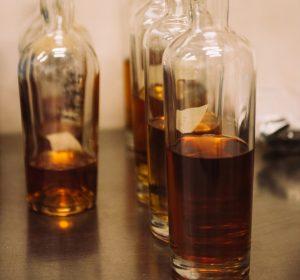 Half-Empty Whiskey Bottles